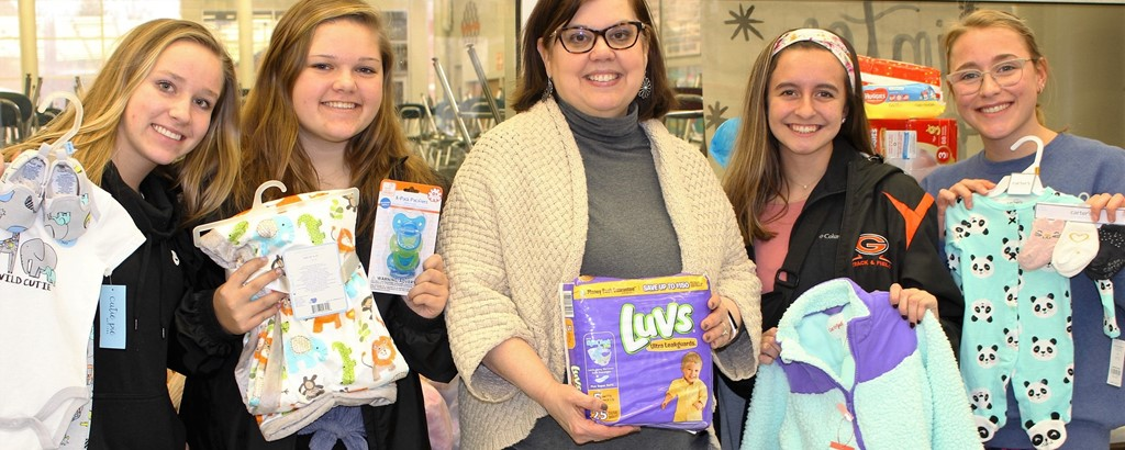 Girls of Green Baby Shower for needy families