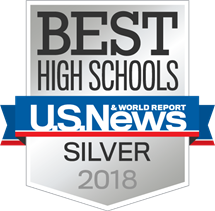 U.S. News & World Report Silver High School Badge